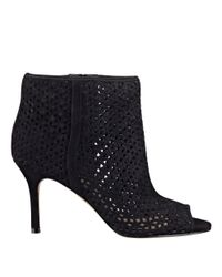 Nine West - Black Glyn Peep Toe Booties - Lyst