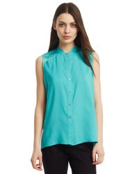 Kenneth Cole | Blue Helena Sleeveless Blouse | Lyst