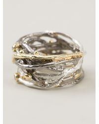 Bjorg | Metallic Big Nest Ring | Lyst