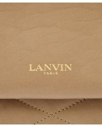Lanvin - Natural Taupe Sugar Leather Bag - Lyst