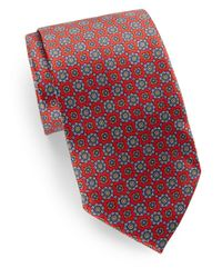 Burma Bibas - Red Neat Square Medallion Silk Tie & Gift Box for Men - Lyst