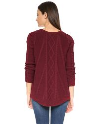 Splendid | Purple Fireplace Cable Swing Sweater | Lyst