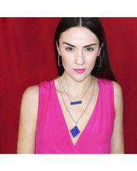 Adornia - Blue Lapis And Sterling Silver Serrano Necklace - Lyst