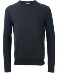 Michael Kors - Blue Contrast Sleeve Sweater for Men - Lyst
