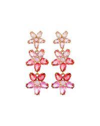 kate spade new york | Pink Ombre Bouquet Linear Earrings | Lyst