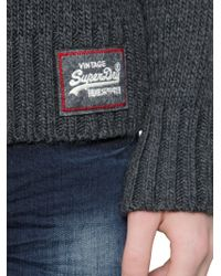 Superdry | White Techno & Wool Jacquard Sweater for Men | Lyst
