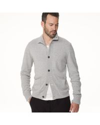 James Perse | Gray Marled Wool Blend Cardigan for Men | Lyst