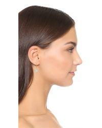 Marc Jacobs - Metallic Small Crystal Cabochon Hoop Earrings - Lyst