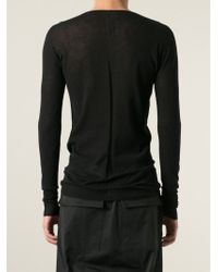 Rick Owens - Black Round Neck T-Shirt for Men - Lyst