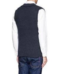 Kolor - Blue Chunky Knit Vest for Men - Lyst