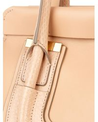 Chloé - Natural Everston Leather And Snakeskin Bag - Lyst