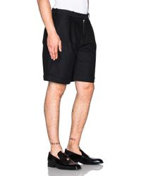J.W.Anderson - Black Double Pleat Straight Shorts - Lyst