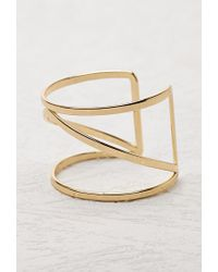 Forever 21 - Metallic Caged Cutout Cuff - Lyst