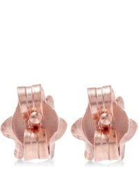 Alex Monroe - Pink Rose Gold-plated Lily Of The Valley Pearl Stud Earrings - Lyst