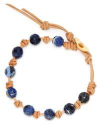 Chan Luu - Blue Single Beaded Wrap Bracelet - Lyst