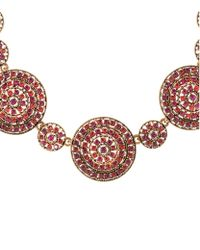 Oscar de la Renta - Multicolor Pavã© Disc Necklace - Lyst