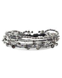 Chan Luu | Metallic Silver Night Mix Multi Strand Bracelet | Lyst