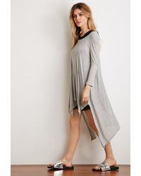 Forever 21 - Gray Oversized Ribbed Top - Lyst