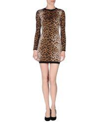 RED Valentino - Brown Leopard Print Dress - Lyst