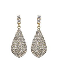 Mikey - Metallic Eclipse Embedded Crystal Drop Earring - Lyst