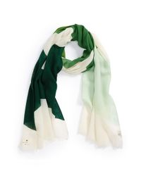 kate spade new york - Green 'abstract Bow' Wool Scarf - Lyst