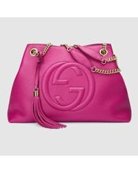 Gucci - Purple Soho Leather Shoulder Bag - Lyst