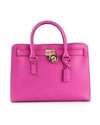 MICHAEL Michael Kors - Pink Hamilton Large Shoulder Bag - Lyst