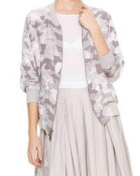 DKNY - Gray Pure Camo Print Bomber Jacket - Lyst