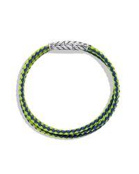 David Yurman - Chevron Triplewrap Bracelet in Blue and Green for Men - Lyst