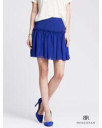 Banana Republic | Blue Br Monogram Ruffled Full Skirt | Lyst