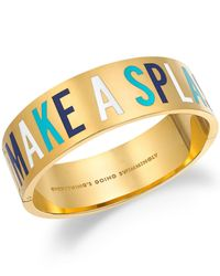 kate spade new york | Metallic 12k Gold-plated Make A Splash Idiom Bangle Bracelet | Lyst