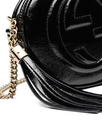 Gucci - Black Soho Mini Textured-leather Shoulder Bag - Lyst