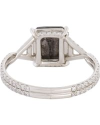 Mp Mineraux - Metallic Rose-Cut Black Diamond & Platinum Ring - Lyst