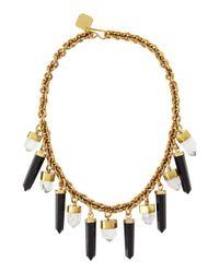 Ashley Pittman | Black Obsidian & Crystal Prism Bib Necklace | Lyst