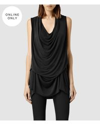 AllSaints | Black Amei Sleeveless Top Usa Usa | Lyst