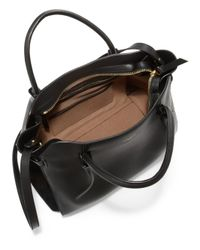 Nina Ricci - Black Marche Medium Monochrome Leather & Suede Satchel - Lyst