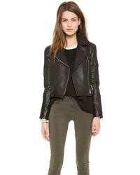 J Brand | Wayfarer Leather Jacket Black | Lyst