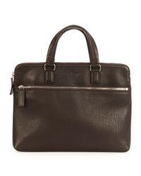 Ferragamo - Brown Single Gusset Leather Briefcase for Men - Lyst
