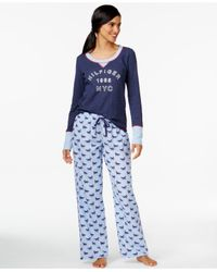 Tommy Hilfiger | Blue Boxer Shorts And Pajama Pants Gift Set | Lyst