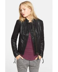 Free People - Black Faux Leather Jacket - Lyst