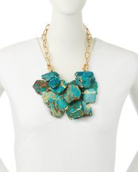 Panacea - Blue Layered Statement Necklace - Lyst