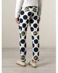 KENZO - White 'dots & Logo' Trousers for Men - Lyst