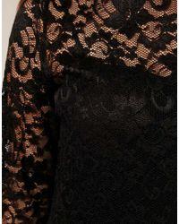 ASOS Collection - Black Asos Curve Slash Neck Lace Dress - Lyst