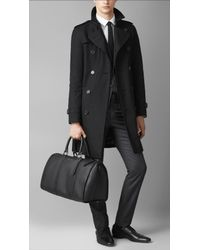 Burberry | Black Medium London Leather Holdall for Men | Lyst