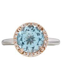 Dinny Hall - Sky Blue Topaz And Diamond Susu Ring - Lyst