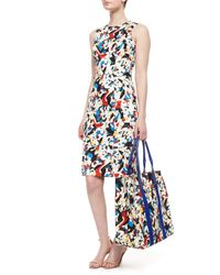 Carolina Herrera - Multicolor Tango Dancer-print Coated Canvas Tote Bag - Lyst