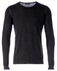 Avant Toi   Black Distressed Sweater for Men   Lyst