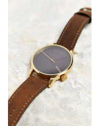 Komono - Metallic Winston Gold Wood Watch - Lyst
