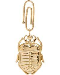 Aurelie Bidermann | Metallic Diamond Gold Scarab Beetle Charm | Lyst