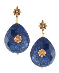 Stephen Dweck - Blue Dumortierite & Bronze Drop Earrings - Lyst